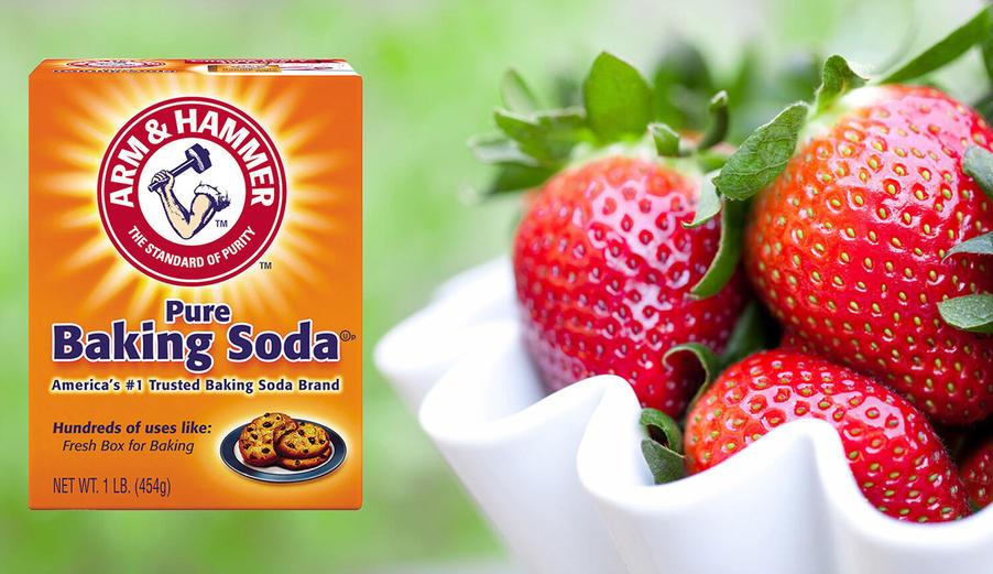 baking soda to wash veggies & fruit