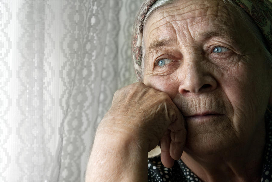 a older woman with depression