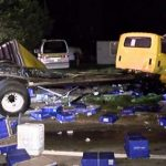 Wreck scatters pharmacy bottles, syringes across Texas highway