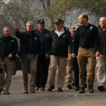 Trump sees damage caused by deadly California fires
