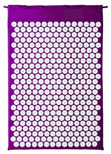 Image result for HemingWeigh Complete Acupressure Mat and Pillow Set with Bonus Carry Bag (Purple)