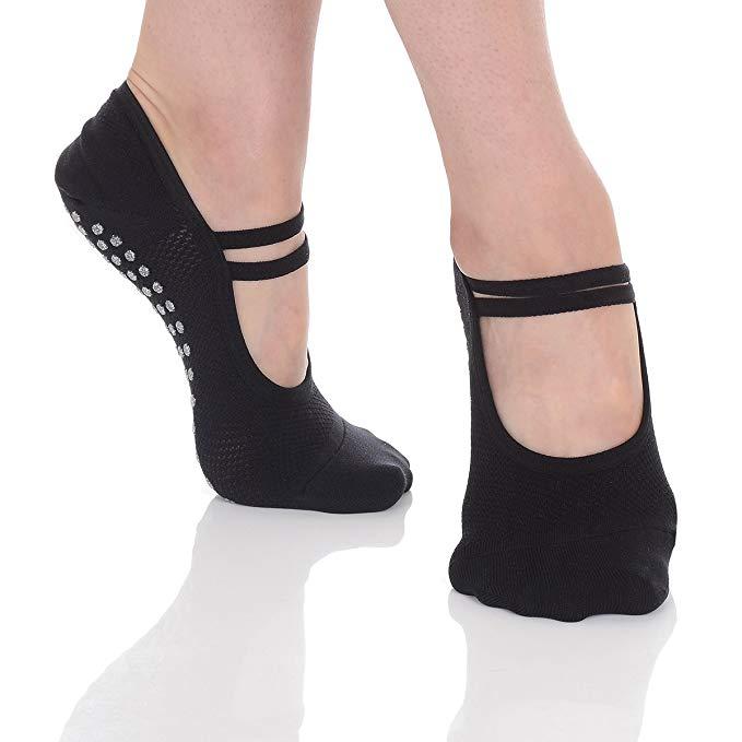 Image result for Great Soles Ballet Non Skid Socks for Women - Non Slip Grip Yoga Socks for Pilates, Barre and Everyday Wear