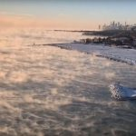 Deep freeze makes Lake Michigan look like a 'boiling cauldron'