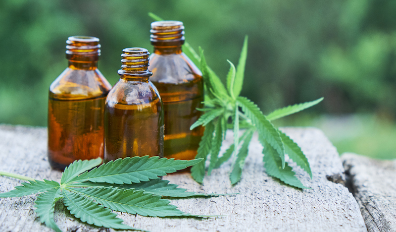 cbd oil, benefits, hemp leaves, in text