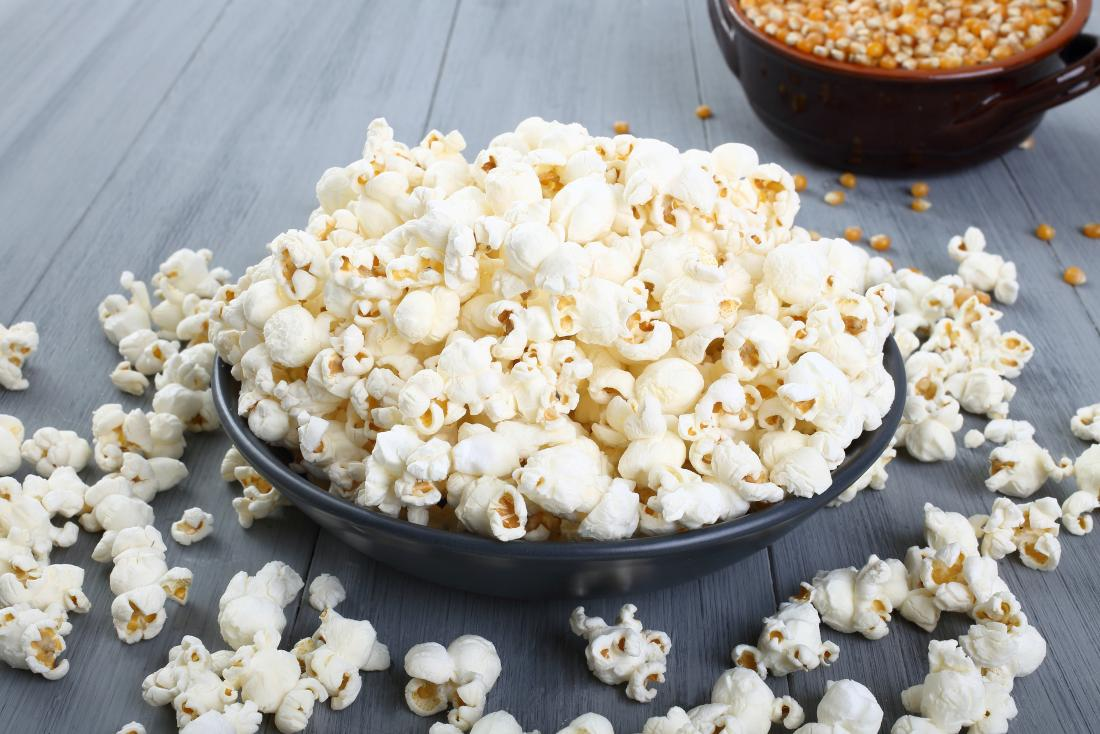 bowl of healthy popcorn