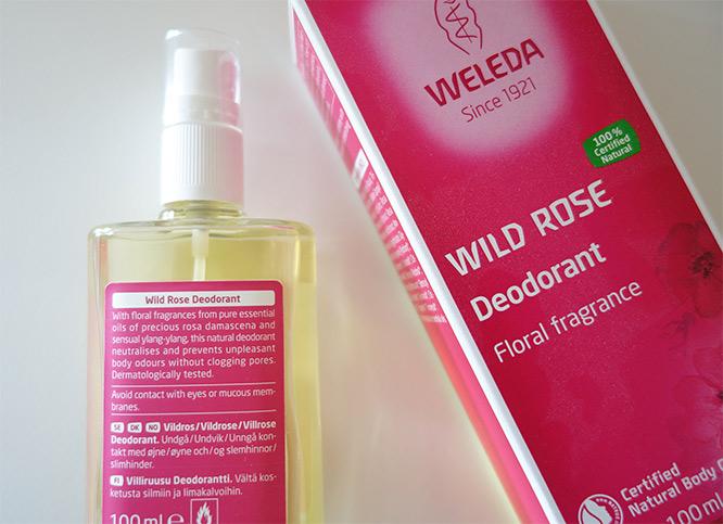 weleda wild rose deodorant - back of it