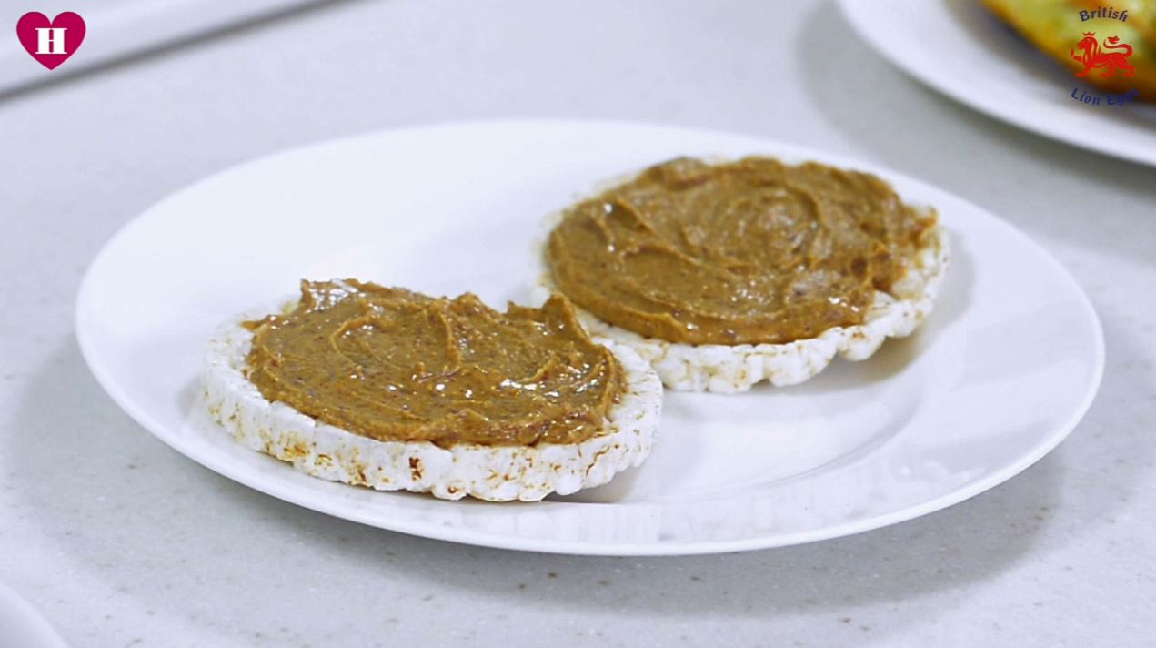 nut butter covered rice cakes