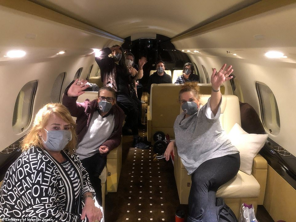 Eleven Israeli citizens were flown home on a private jet on Thursday after Israel became the latest nation to launch an evacuation mission before the UK. Four Israelis were left in Japan after being diagnosed with coronavirus